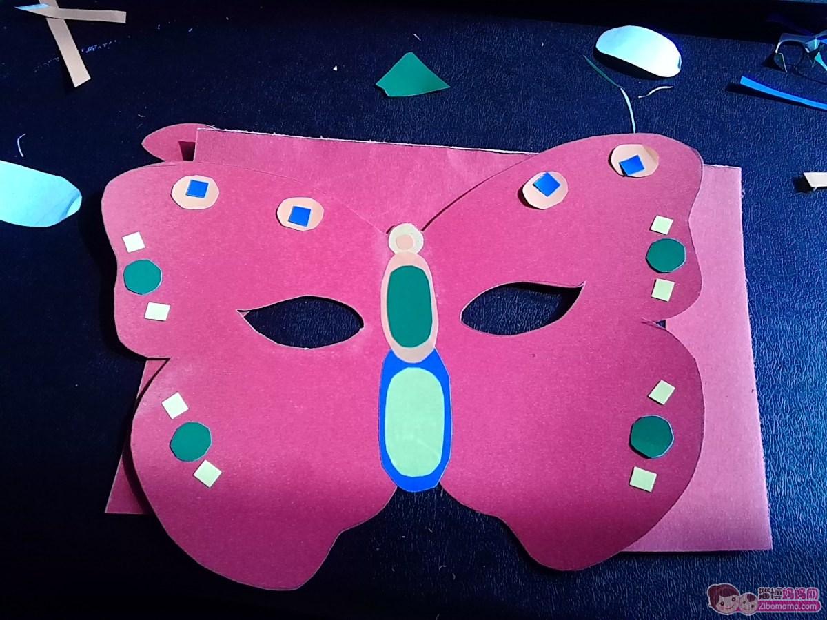 DIY 万圣节的儿童面具 蝴蝶 有步骤 分享给大家